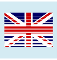 GB flag with effects vector image vector image