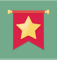 Gold star on the flag icon