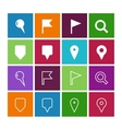 GPS and Navigation icons on color background vector image vector image