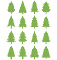green christmas trees o vector image vector image