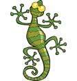 green gecko lizard vector image vector image