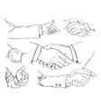 Handshake set vector image