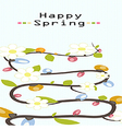 happy flower spring background vector image