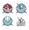 Icon set Baseball sport design graphic vector image