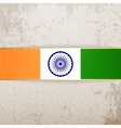 india patriotic tag and ribbon vector image