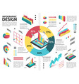 isometric colorful business infographic template vector image vector image