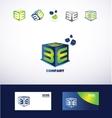 Letter E cube logo icon vector image vector image