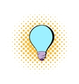Light bulb icon in comics style vector image vector image