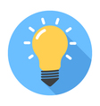 Lightbulb Flat Design icon vector image vector image