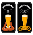 logo for bar banner oktoberfestpub during vector image