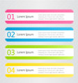 Modern infographics colorful design template with vector image vector image