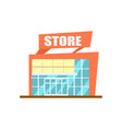 modern store building isolated icon vector image vector image