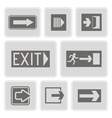 monochrome icons with exit signs vector image vector image