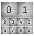 movie count timer vintage cinema countdown frames vector image