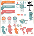 Retro Color Infographics Elements vector image