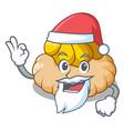 santa ice cream biscuit on wafers cartoon vector image vector image