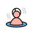 sauna icon on white background vector image vector image