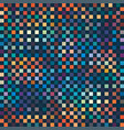 seamless abstract pixel print vector image vector image