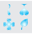 set of abstract waters designs vector image vector image