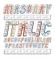 set of cool ancient upper case english alphabet vector image