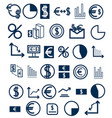 set of icons on a financial theme vector image