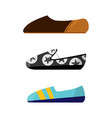 set with different types trend womens shoes vector image vector image
