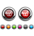 Sex button vector image