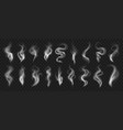 smoke effect realistic traces in air from vector image