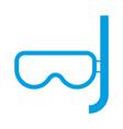 snorkel mask icon vector image vector image