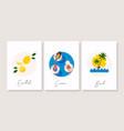 summer banner set essentials vector image
