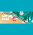 summer holidays and tropical vacation poster vector image