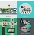 Traffic Concept Set vector image vector image