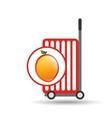 trolley shop juicy peach fruit vector image