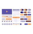 ui web templates modern clean smartphone theme vector image