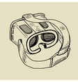 VR glasses for mobile phones hand drawing sketch vector image vector image
