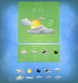 Weather widget template 5 vector image vector image