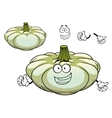 White pattypan squash vegetable cartoon character vector image vector image