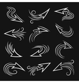 Handmade Arrow set vector image