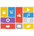 Modern colorful user interface vector image