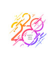 2020 new year logo with abstract geometric shapes