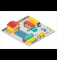 3d isometric process of the warehouse company vector image vector image