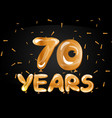 70 years gold anniversary celebration vector image vector image