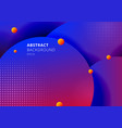 abstract 3d liquid fluid circles blue and red vector image vector image