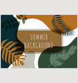 abstract background summer tropical banner vector image vector image
