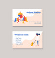 animal shelter business card template