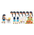 asian girl primary school child animation