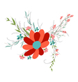 background with flowers in retro style vector image vector image