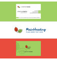beautiful leafs logo and business card vertical vector image vector image