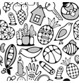 black and white wallpaper for coloring book vector image