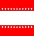 canadian flag symbolism ribbon maple leaf frame vector image